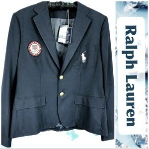 Ralph Lauren Blazer Navy Blue Olympics & Big Pony